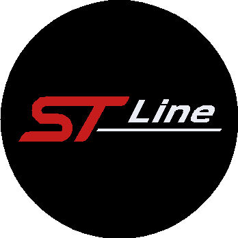 28mm Round Badge with ST Line Logo
