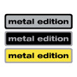 Metal Edition domed badge