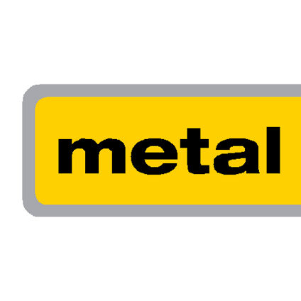 Yellow with Black Lettering and Chrome Outline