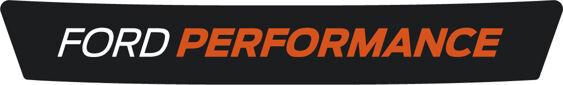 Ford Performance Logo - White/Orange