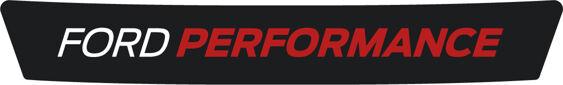 Ford Performance Logo - White/Red