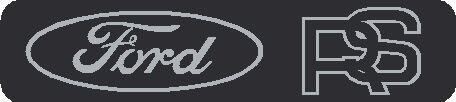Seat Badge Decal Ford RS 58x13mm