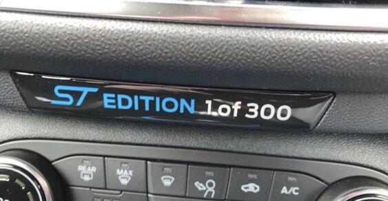Fiesta Mk8 ST Edition Dash Badge 1 of 300