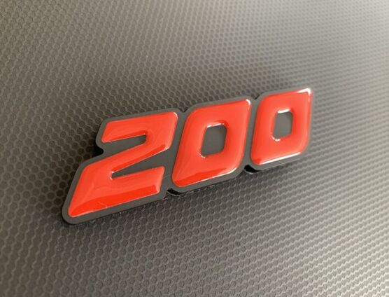 200 Perspex Badge with Gel Inlay