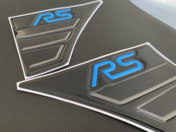 Focus Mk3 RS Gel Wing Badges - 3D Raised
