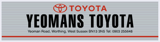 Yeomans Toyota Worthing West Sussex Toyota 295x78