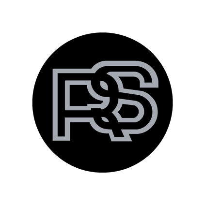 RS Wheel Centre Decals - Black with Silver Logo - 40mm - Set of 4