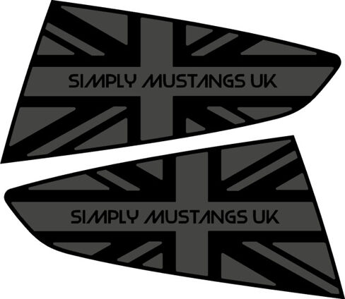 Mustang S550 Rear Quarter Window Decals - Wording ONLY