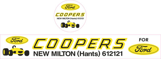 Coopers of New Milton Hants Ford Dealer Sticker