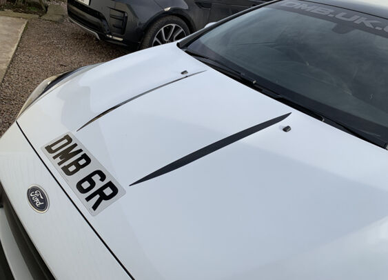Focus Mk3 RS Bonnet Bulge Stripes