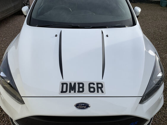 Focus Mk3 RS Bonnet Bulge Stripes 2