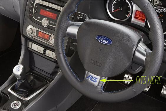 Focus Mk2 RS Steering Wheel - RS Gel Badge Inlay