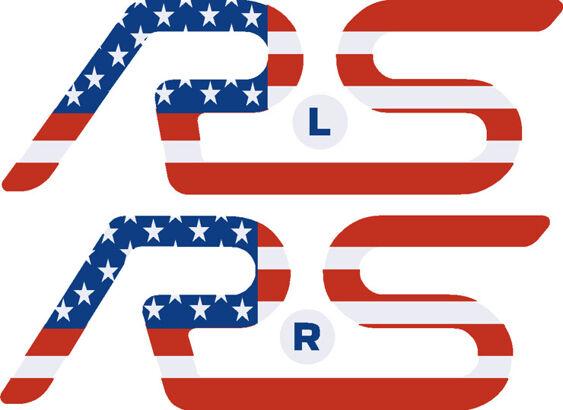 Focus Mk3 RS Rear Spoiler RS Inlay - Flag Designs - PAIR