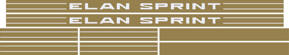 Lotus Elan Stripe Kit