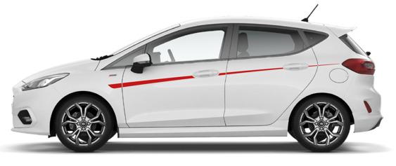 Fiesta Mk8 Single Upper Side Stripes - 5 Door ONLY