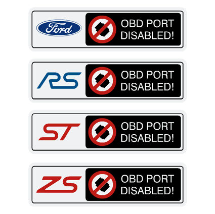 OBD Port Disabled Decal with Logo