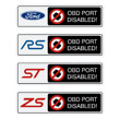 OBD disabled stickers
