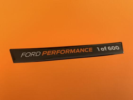 Fiesta Mk8 - Dash Badge - Performance Edition 1 of 600