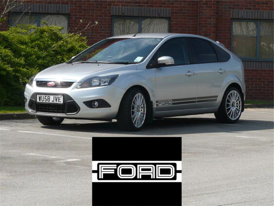 Focus Mk2 Lower Side Stripes - FORD Logo
