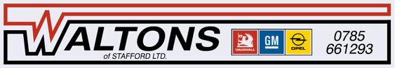 Waltons of Stafford Vauxhall Opel 320x55