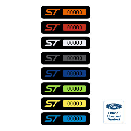 Fiesta ST Build Number Badges Short version