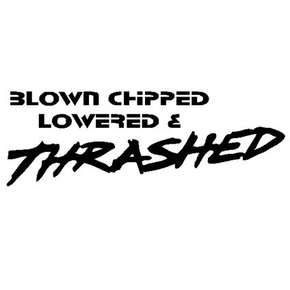 Blown chipped lowered and thrashed