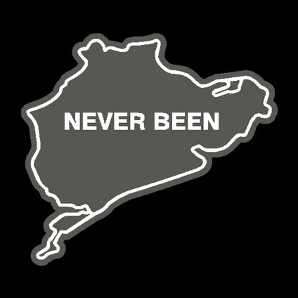Nurburgring 'Never Been' Track Decal - Original Style