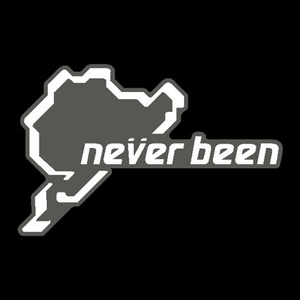 Nurburgring 'Never Been' Track Decal - New Style
