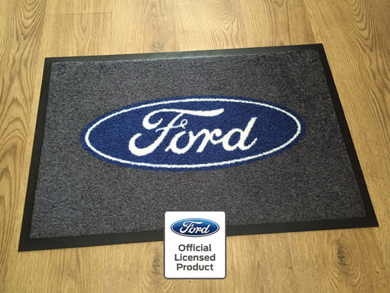 Ford Workshop / Garage Mat - Grey with Blue/White Ford Logo