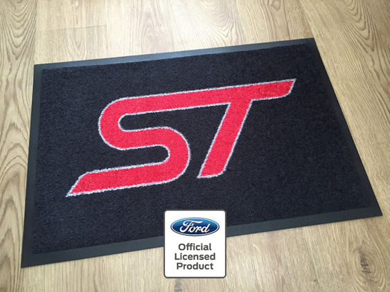 ST Workshop / Garage Mat - Black with Red ST Logo