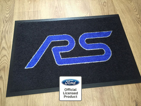RS Workshop / Garage Mat - Black with Blue RS Logo
