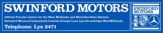Swinford motors lye porsche 289x58