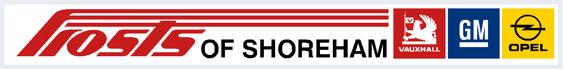 Frosts of shoreham vauxhall dealer sticker 325x40