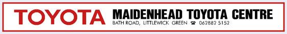 Toyota maidenhead dealer sticker 500x60