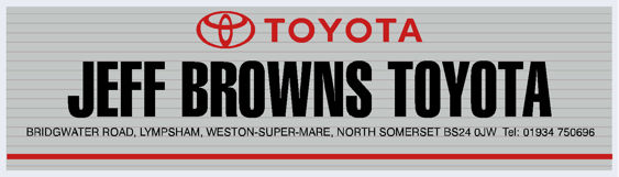 Jeff browns toyota lympsham somerset 295x85