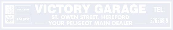 Victory garage hereford peugeot talbot 290x50