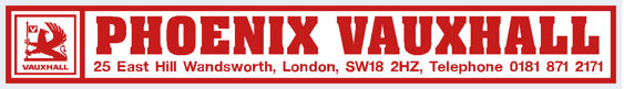 Phoenix vauxhall wandsworth london 295x43