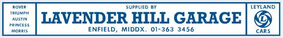 Lavender hill garage enfield middlesex leyland 400x55