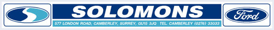 Solomons of camberley surrey ford 295x33