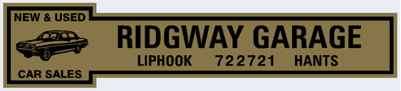 Ridgway garage liphook hampshire 260x60