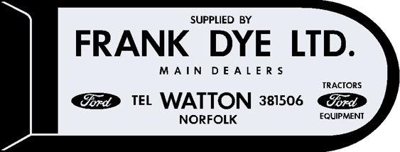 Frank dye watton norfolk ford 120x45
