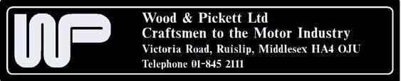 Wood and pickett ruislip middlesex london 250x50