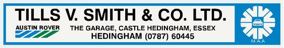 Tills v smith and co hedingham essex austin rover 300x52