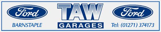 Taw garages barnstaple ford white 250x50